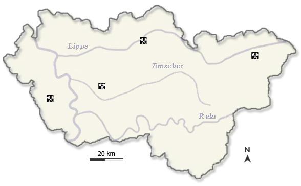Karte Ruhrgebiet.Regionalkunde Ruhrgebiet Kohle