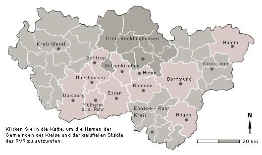 Karte Ruhrgebiet.Regionalkunde Ruhrgebiet Lage Grenzen Und Verwaltungsgliederung